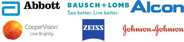 Marken: Abott, Bausch+Lonmb, Alcon, CooperVision, Zeiss, Johnson+Johnson