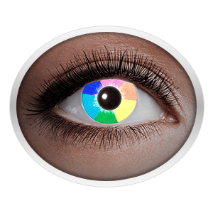 Rainbow contact lenses (UV Rainbow)