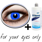 blue contact lenses (Blue Fluo Crazy) product image