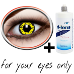 blackyellow contact lenses (Black Wolf Crazy) product image