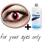 lentilles de contact blanches (White Devil Crazy)