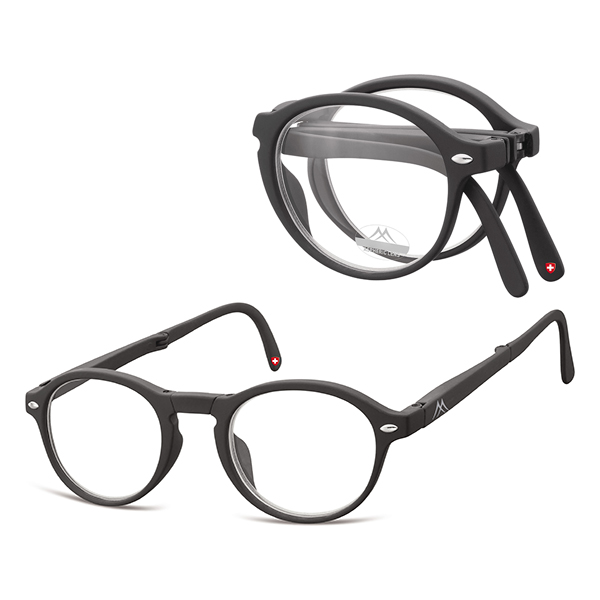 Foldable reading glasses Clever Black
