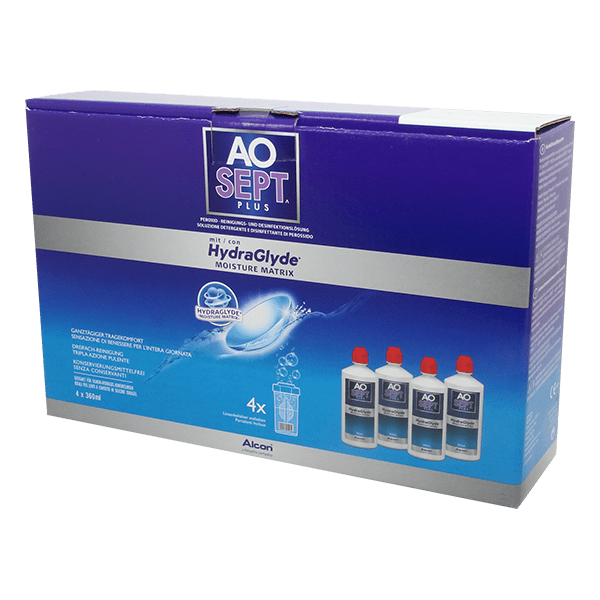 Image of AOSEPT PLUS mit HydraGlyde 4x360ml Pflegemittel